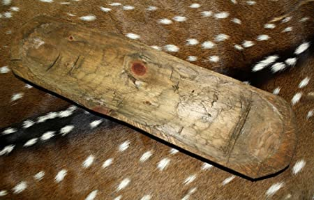 """* Carved Wooden Dough Bowl Primitive Wood Trencher Tray Rustic Home Decor 18-22/"""""""