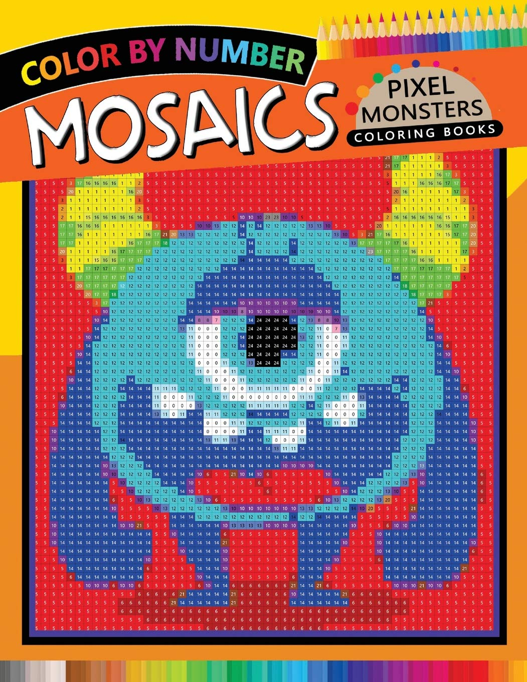 Amazon.com: Pixel Monsters Mosaics Coloring Books: Color by Number ...
