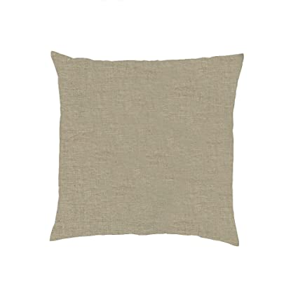 Terrific Luxury Washed Soft Organic 100 Pure Linen Flax Pillow Accent Large Solid Square Toss Couch Sham Cover Reversible Decorative Brown Cases Tan Beige Gmtry Best Dining Table And Chair Ideas Images Gmtryco