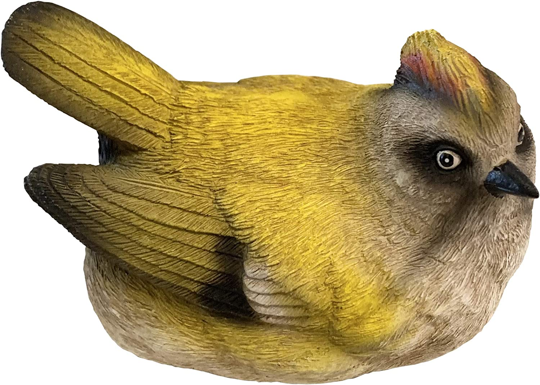 Top Brass Songbird Key Hider Figurine - Cute Bird Garden Statue with Secret Compartment - Indoor / Outdoor