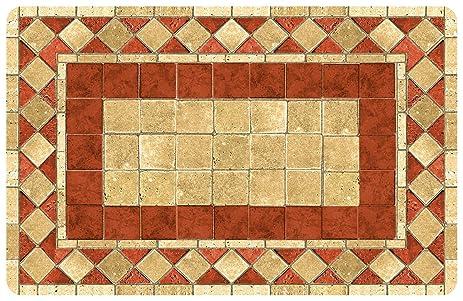 Bungalow Flooring 2 By 3 Feet Surfaces Floor Mat, Terracotta Tile Design