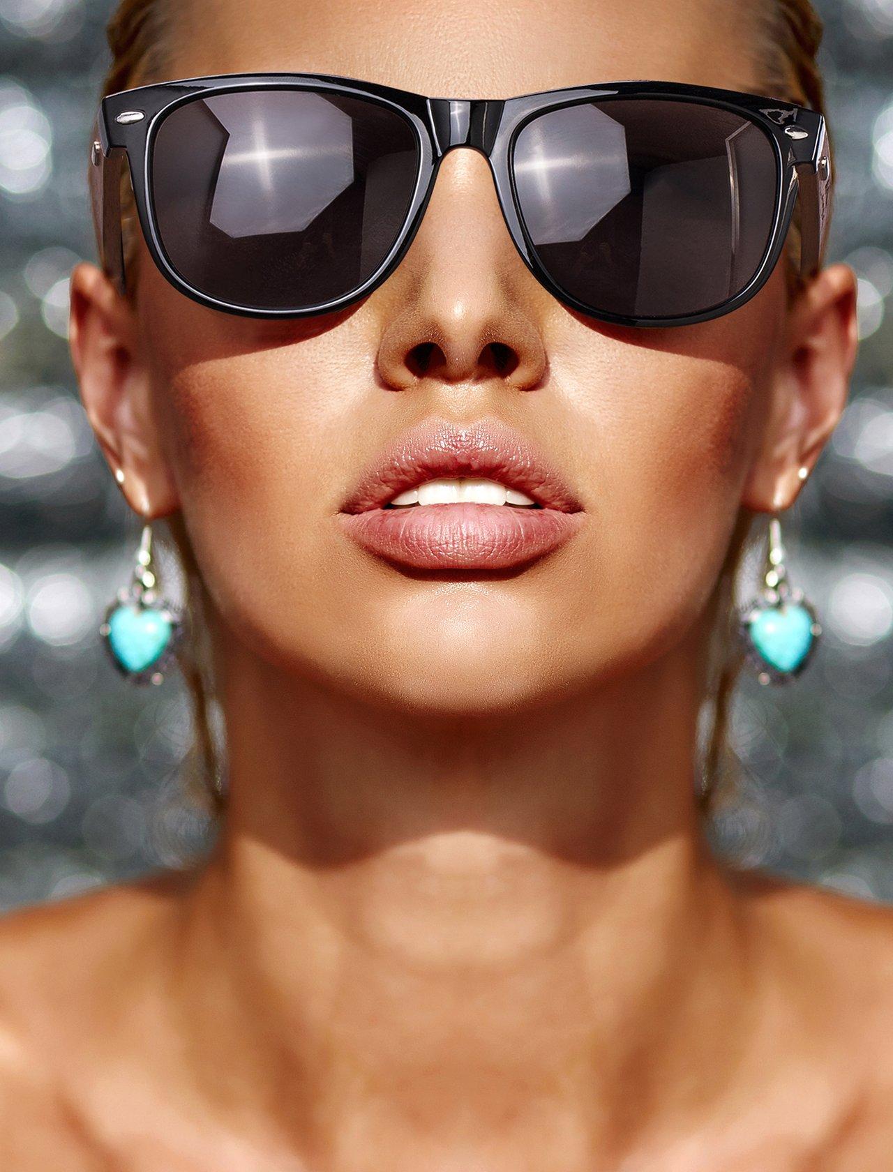 Amexi occhiali da sole in legno UV400 - occhiali con astine in bambù unisex uomo donna - con custodia vintage - diversi colori/Sport Outdoor Sport Pesca Ultra Leggero Occhiali da sole (black)