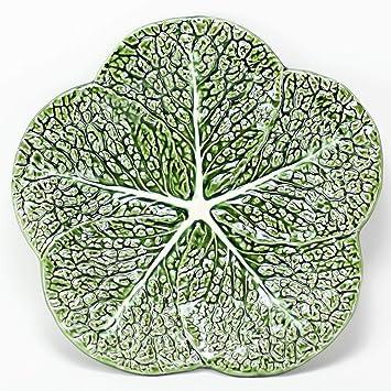 Desconocido Plato Repollo Verde 28 cm diámetro, cerámica Portuguesa, Vintage, Tradicional: Amazon.es: Hogar