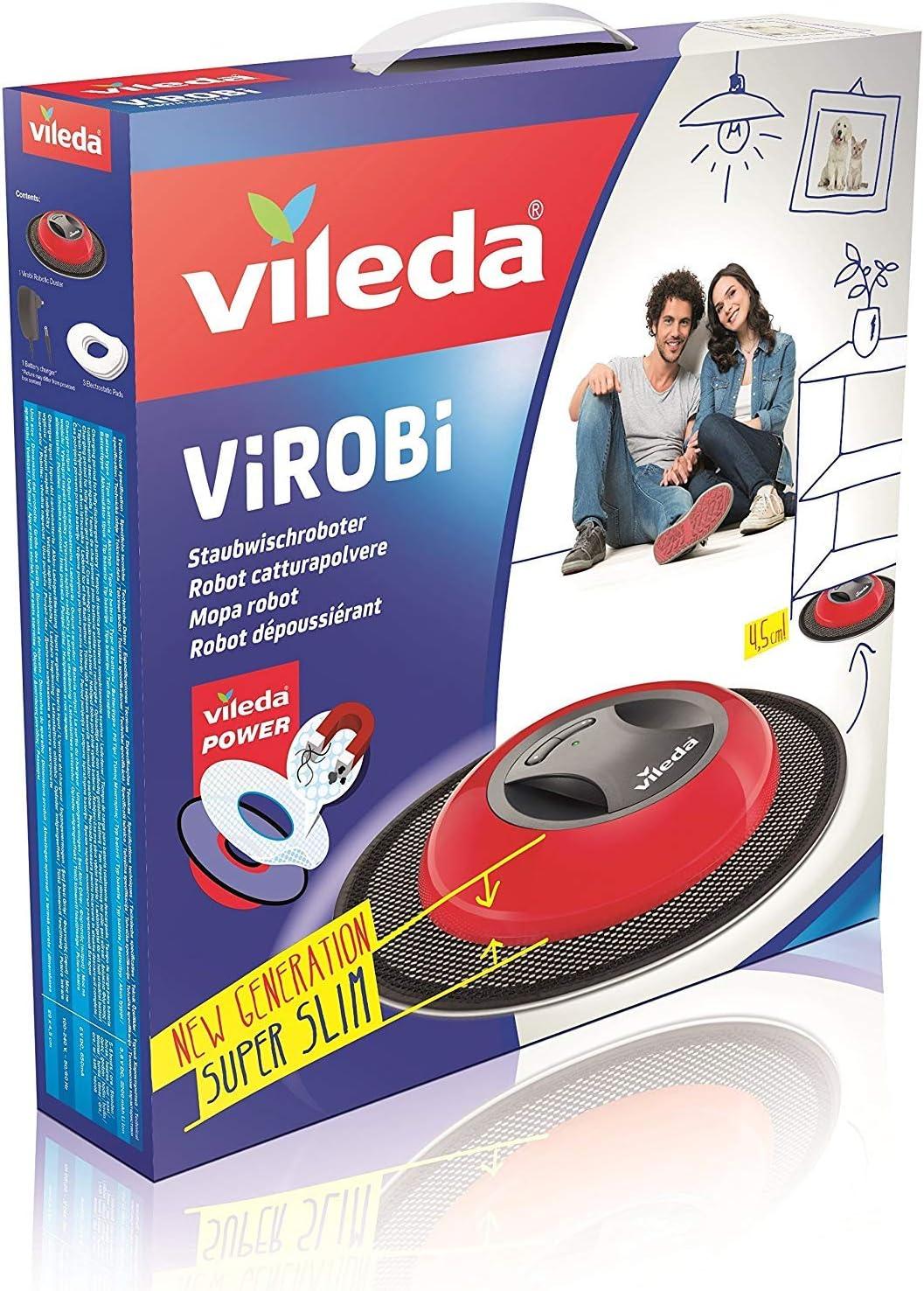Vileda Virobi Slim - Mopa robot con sistema de autorotación y 2 ...