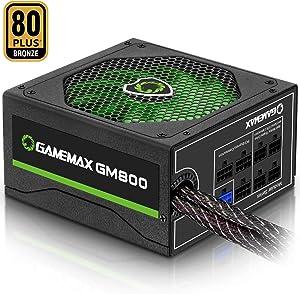 Power Supply 800W 80+ Bronze Semi Modular, GAMEMAX GM-800