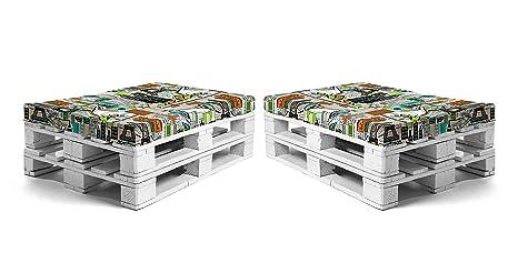 SUENOSZZZ - Pack 2 colchonetas para Sofas de Palet. Cojin ...