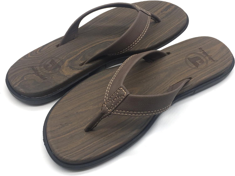 jiajiale Men Yoga Foam Flip Flops Arch Support Flat Slip on Thong Sandals Shoes Rubber Sole
