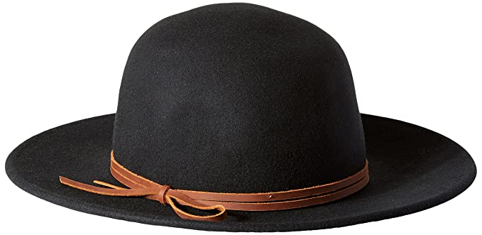 a77b8023a8f82 San Diego Hat Company Women's Floppy with Round Crown and Leather Band,  Black, One