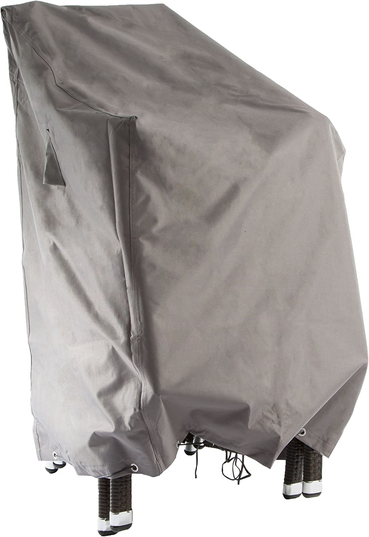 Ultranatura Sylt - Funda Protectora de Tejido, para hasta 6 sillas apilables, Altura 80/120 cm: Amazon.es: Jardín