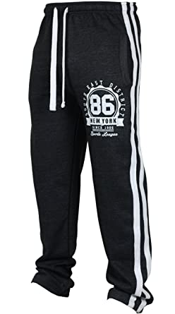 aa092d91 Urban Legacy New Mens Tracksuit Bottoms Fleece Trackies Gym Jogging Joggers  Warm Sweat Pants Sports NY New York (S, Dark Grey): Amazon.co.uk: Clothing