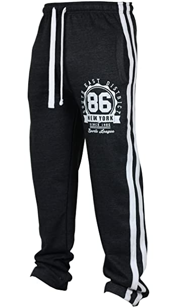Urban Legacy New Mens Tracksuit Bottoms Fleece Trackies Gym Jogging Joggers Warm Sweat Pants Sports NY New York
