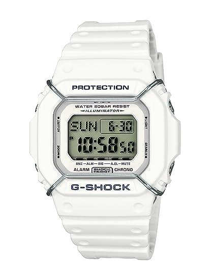 CASIO G-SCHOCK DW-D5600P-7E - Reloj Digital de Cuarzo con Correa de Resina para Hombre, Color Blanco: Amazon.es: Relojes