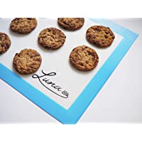 LUNA Silicone Baking Mat | (2 Pack)Non-Stick Cookie Sheet | Environmentally Friendly Liner | Perfectly sized for standard baking trays | Professional Grade | Reusable non-stick baking mat perfect for cookies, macarons and savoury bakes