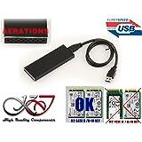 KALEA-INFORMATIQUE © - Boitier M2 vers USB3 (USB 3.0 SUPERSPEED) - COLORIS NOIR - Supporte les 4 formats : 2230 / 2242 / 2260 / 2280 - Pour SSD M.2 NGFF de type SATA B Key - CORDON 60cm - Aérations