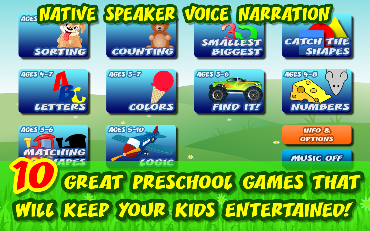 10 Preschool Activities in One App - Fun Educational Kids - Import ...