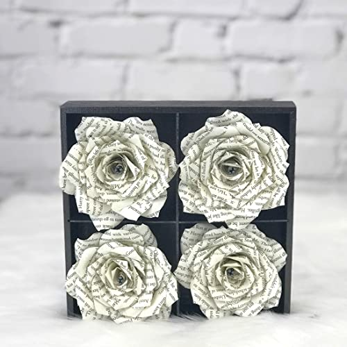 Amazon Flower Art Using Handcrafted Book Page Paper Flowers