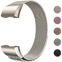 Fulwart Ersatzarmbänder Kompatibel für Fitbit Charge 2,Milanese Loop Edelstahl Verstellbare Ersatz Armbänder mit Magnetverschluss für Fitbit Charge 2