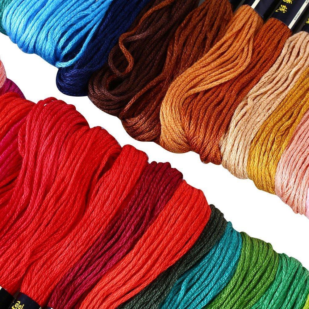 Zedtom 250 Matassine di 8m 6 Fili Cross Stitch Morbido Cotone Ricami DIY Croce