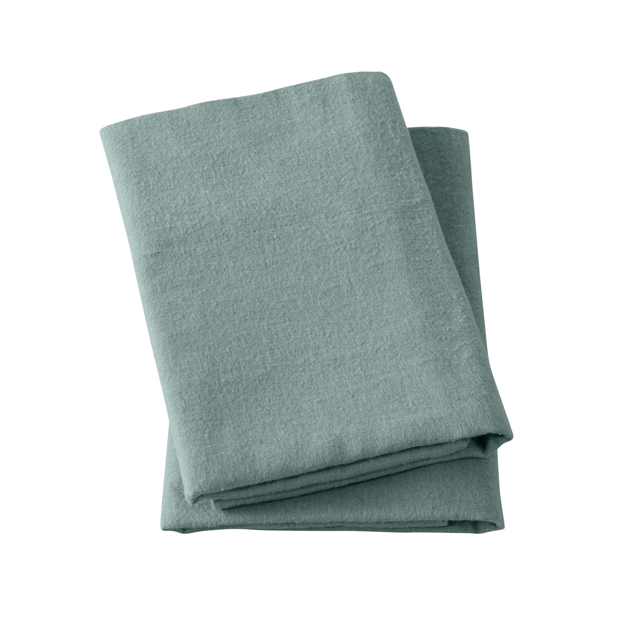 Great Bay Home Extra Soft 100% Turkish Cotton Flannel Pillowcase Set. Warm, Cozy, Lightweight, Luxury Winter Bed Pillowcases in Solid Colors. Nordic Collection Brand. (Standard, Thyme Green)