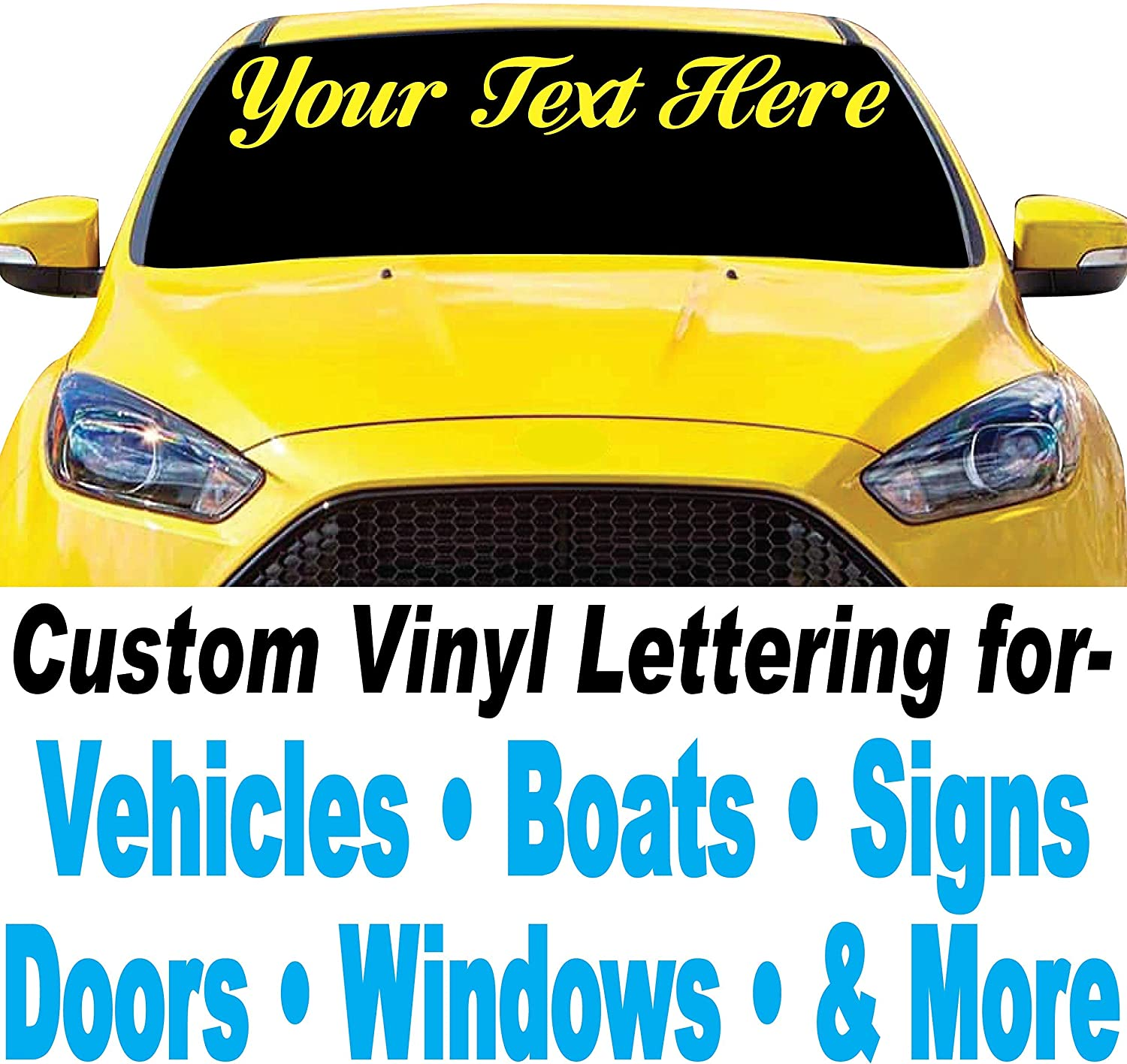 "4"" high Custom Vinyl Lettering - Design Your Own Decals, Stickers - Letters & Numbers for Cars, Trucks, Boats, Signs, Doors, Windows, and More"