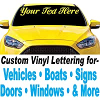 """1060 Graphics 4"""" high Custom Vinyl Lettering - for Cars, Trucks, Boats, Signs, Doors, Windows, Banners, and More (Design…"""