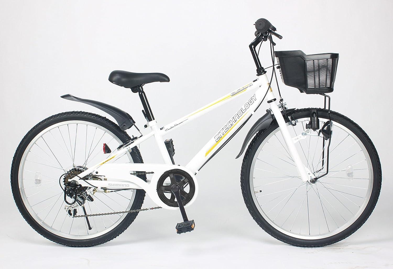 21Technology【KD246】24インチ 子供用マウンテンバイク シマノ製6段変速ギア付き