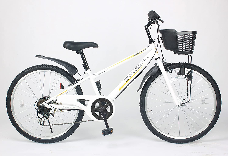 21Technology【KD246】24インチ 子供用マウンテンバイク シマノ製6段変速ギア付き B00NATM65U 24|ホワイト ホワイト 24