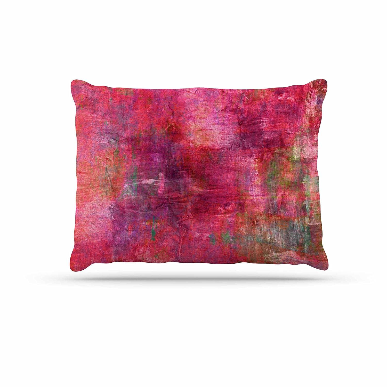 KESS InHouse EBI Emporium It Girl-Black & Pink Black Dog Bed, 50  x 40