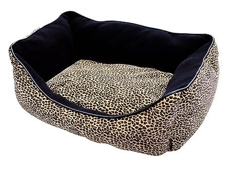 Wouapy Sofá Cama para Perro, Leopardo