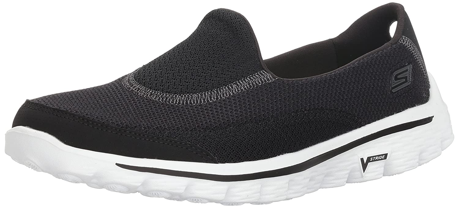 Skechers Performance Women's Go Walk B009ZDFYMM 2 Slip-On Walking Shoe B009ZDFYMM Walk 7.5 M US|Black White 525b5d