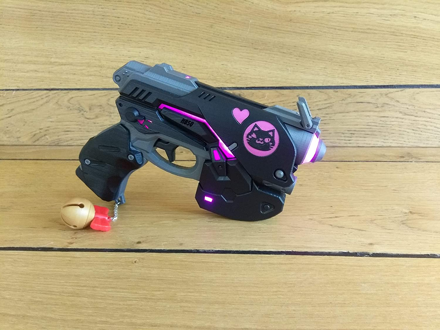 Cosplay D.Va Overwatch Black Cat 3d printed acrilic painted varnished