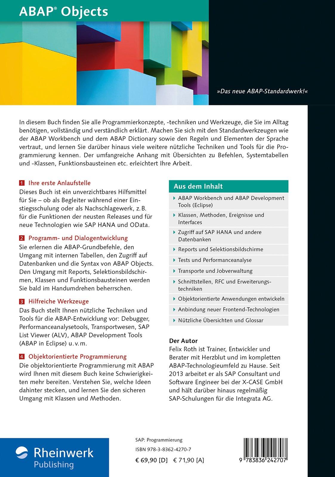 ABAP Objects: Das neue umfassende Handbuch zu Konzepten ...
