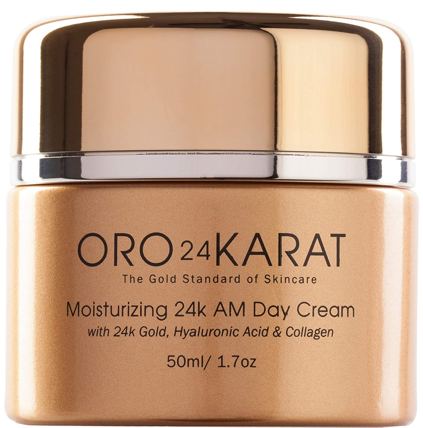 ORO24KARAT Moisturizing Day Cream with 24k Gold, Anti-Aging with Vitamins, Hyaluronic Acid, Collagen