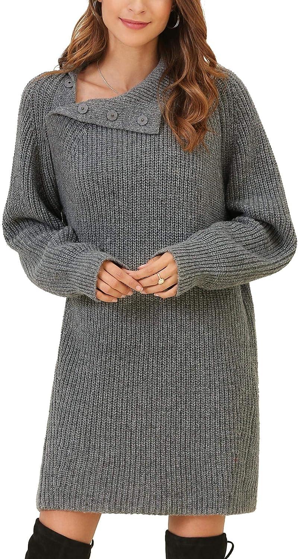 Damen Long Pulli Strick Pullover Rolli Rollkragen Gürtel M//L 36//38 grau NEU TOP