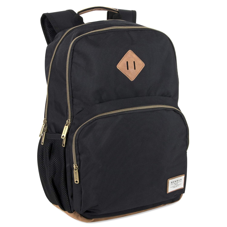 Benrus Platoon Multi Pocket Backpack Student Rucksack with Laptop Pocket for Men and Women