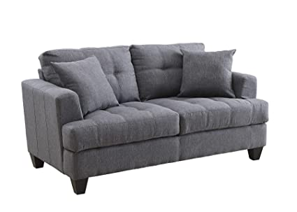 Amazon.com: Simple Relax Samuel Charcoal Loveseat: Kitchen ...