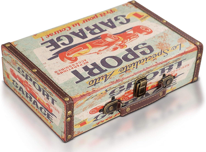 Brynnberg Caja de Madera 30x20x8cm - Cofre del Tesoro Pirata de Estilo Vintage - Hecha a Mano - Diseño Retro - joyero- Pecho Caso