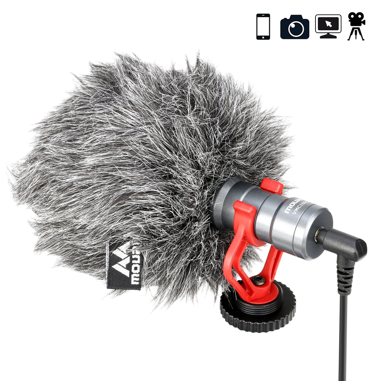 Mouriv Video Microphone,Professional Shotgun Mic for iPhone Huawei Smartphone DJI Osmo Mobile 2,Compatible with ZHIYUN Smooth Q Smooth 4 Feiyu Vimble Canon Sony DSLR Cameras