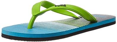 2ff64aeaf85 Puma Unisex Sam Idp Hawaiian Ocean and Lime Punch Flip Flops Thong Sandals  - 8 UK
