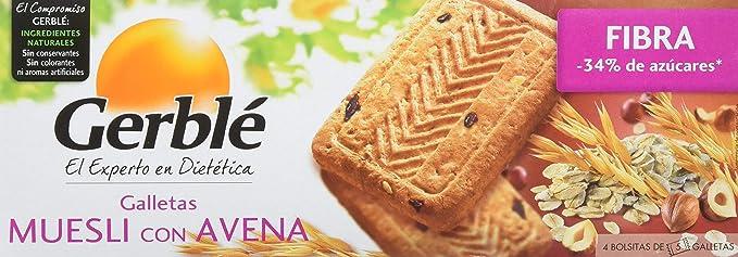 GERBLE - Galletas muesli con avena paquete 230 gr: Amazon.es ...