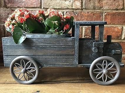 Portavasi A Scaletta In Legno : Industriale vintage camion in legno casa giardino fioriera