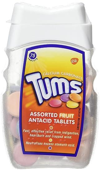 Tums Assorted Fruit Antacid Tablet 75 Tablets Amazon Health