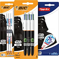 BIC 948540 Star Wars Set of 3 supply (3 pens + 3 pencils + 1 correction tape)