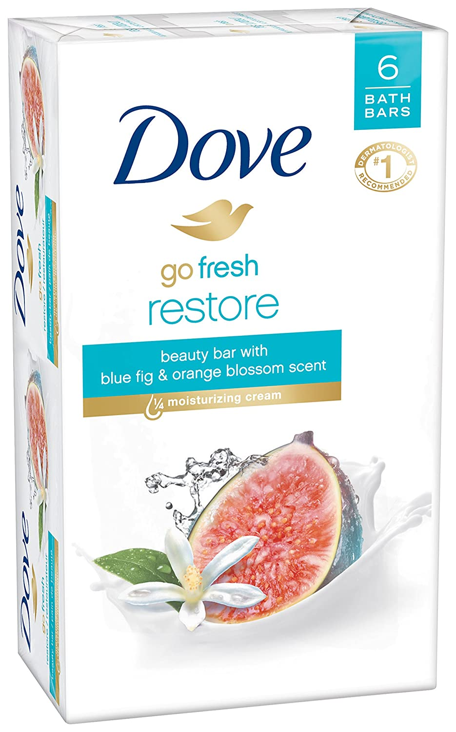 Dove go fresh Beauty Bar, Restore 4 oz, 6 Bar