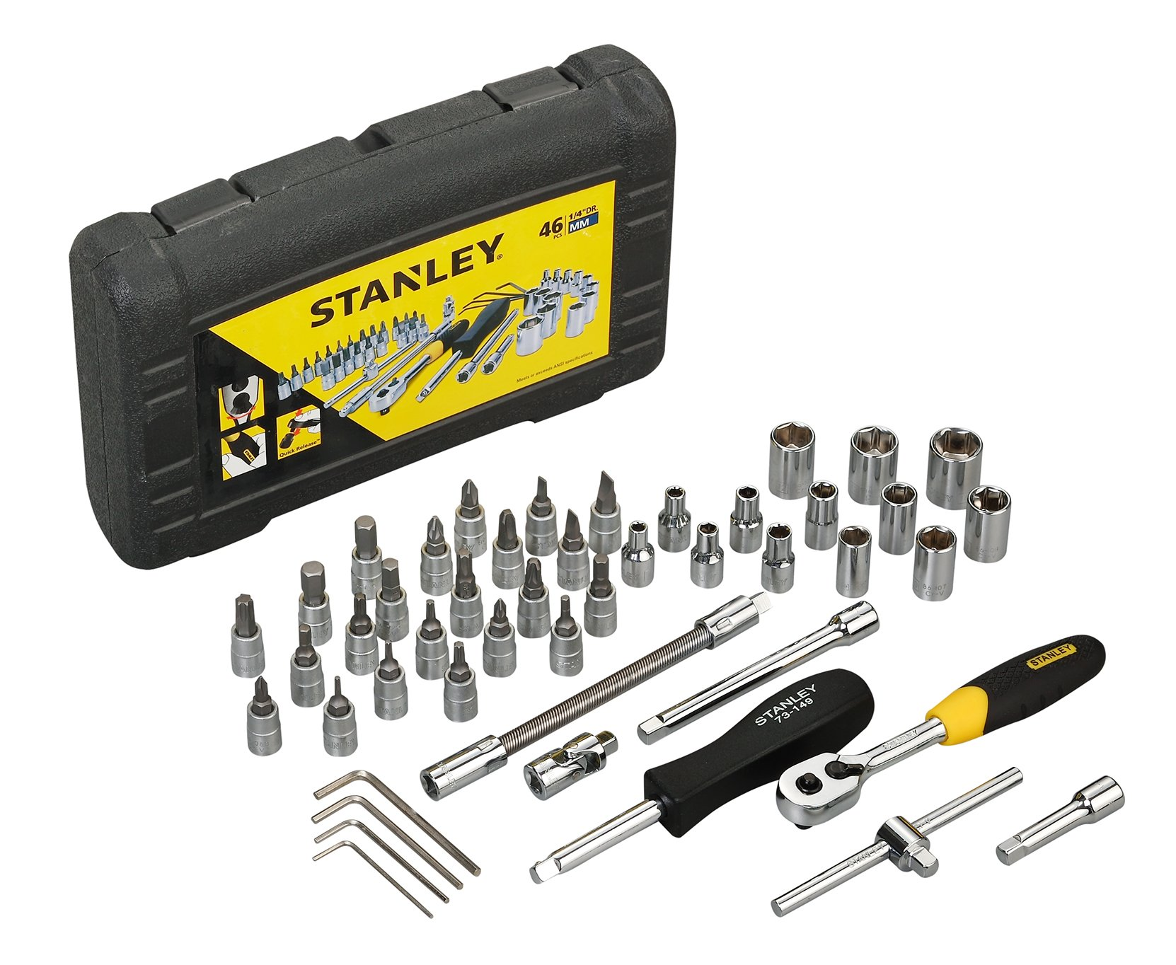 Stanley STMT72794-8-12 1/4 Drive Metric Socket Set (46-Pieces) product image