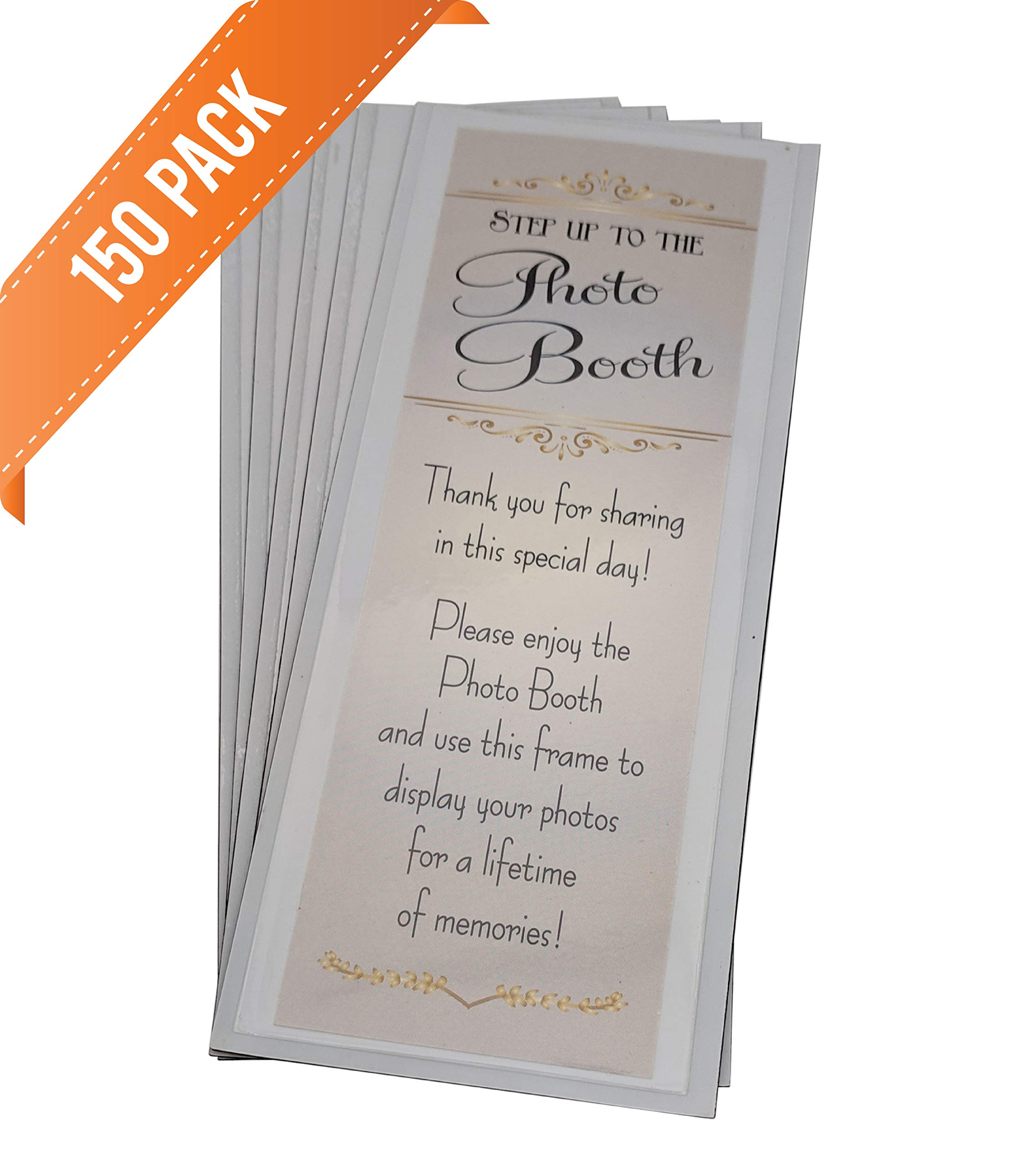 PBN Brand Magnetic Photo Booth Frames with Inserts for 2'' X 6'' Photo Strips (150)