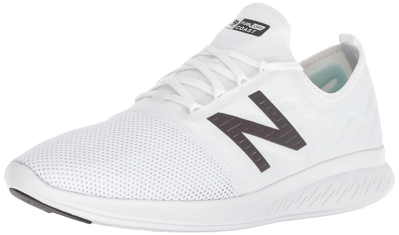 New Balance Men's Coast V4 FuelCore Running Shoe B075R7W8YM 7 4E US|White/Black