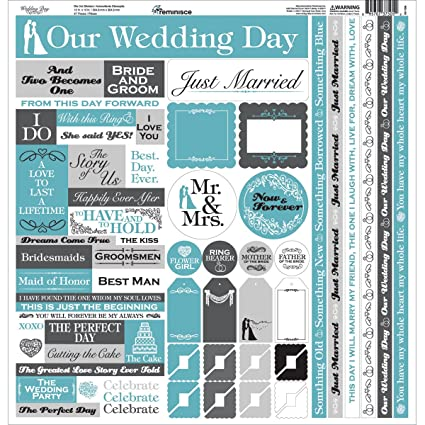 Amazon.com: Wedding Day Cardstock Multi Stickers - Reminisce