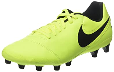 the latest fe628 041a2 Nike Tiempo Genio II Leather AG-Pro, Chaussures de Football Entrainement  Homme, Jaune