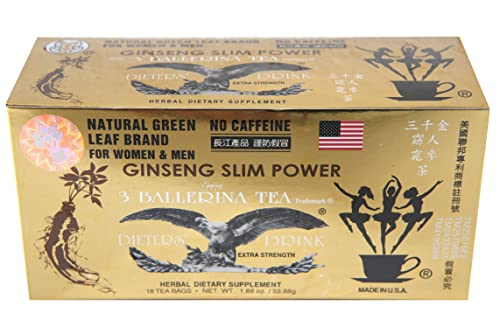 Ginseng Flavor 3 Ballerina Tea – 18 Tea Bags For Women Men